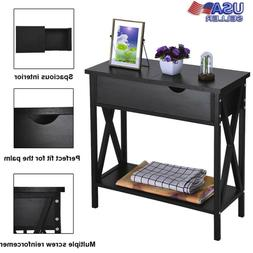 Console Side Table Sofa Entry Hallway Cabinet Storage Flip T