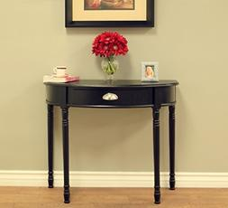 Frenchi Home Furnishing Console Sofa Table with Drawer, Blac