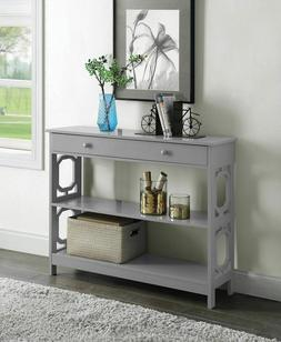 Console Sofa Table Display Storage Shelves Hallway Entryway