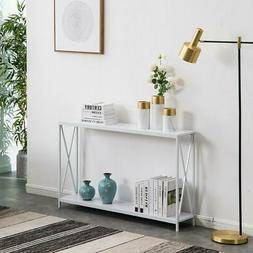 Console Sofa Table Modern Accent Side Stand Entryway Hall Di