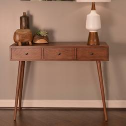 Console Sofa Table Storage 3-Drawers Mid Century Modern Styl