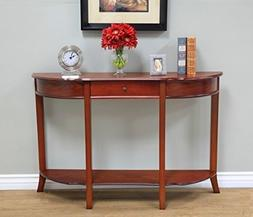 Frenchi Home Furnishing Console Sofa Table with Drawer, Waln