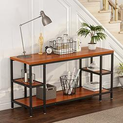 LITTLE TREE Console Sofa Table, Large 3-tier Media Console T