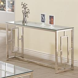 Console Table for Entryway Glass Top Modern Hall Room Furnit