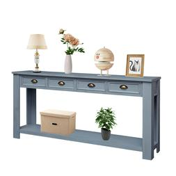 Console Table Accent Sofa Table with 4 Storage Drawers Botto