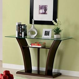 Console Table Base Material is Manufactured Wood and Top Mat