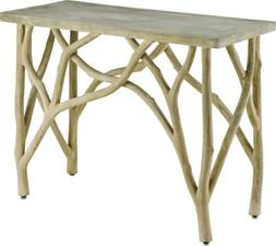 CONSOLE TABLE CURREY & COMPANY CREEKSIDE PORTLAND CONCRE