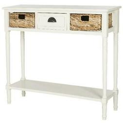 Console Table Drawer and Two Baskets Contemporary hall table