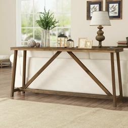 Console Table Entry Hallway Entryway Desk Wood Brown End Sid
