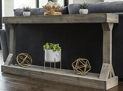 Console Table Entryway Gray Wooden Rustic Farmhouse Mudroom