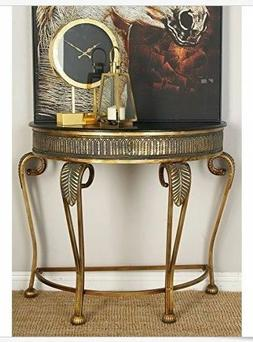 console table entryway half moon hall vintage