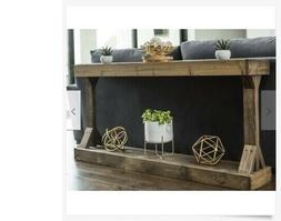 Console Table Farmhouse Solid Wood Rustic Country Shelf Sofa