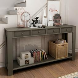 Console Table for Entryway Hallway Sofa Table with Storage D