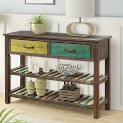 Console Table Hallway Entryway Side Sofa Table with 2 Drawer