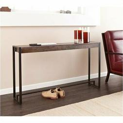 Bowery Hill Console Table in Burnt Oak and Black