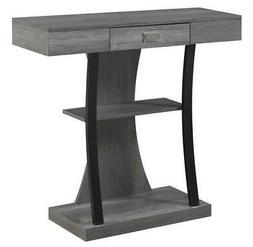 Console Table in Charcoal Gray
