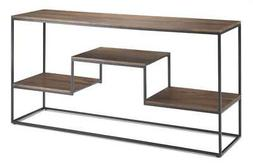 Console Table in Light Walnut Brown and Black