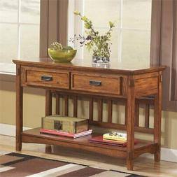 Bowery Hill Console Table in Medium Brown