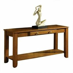 Bowery Hill Console Table in Oak