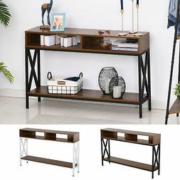 Console Table Industry Desk with Shelf Living Room, Entryway