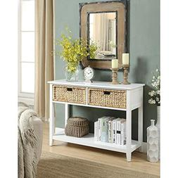 Major-Q Console Table with 2 Drawers and Open Storage for Di
