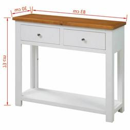 console table oak end table accent table