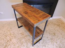 Console Table, Rustic, barn wood. Reclaimed top, 2 tier. Ste