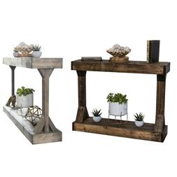 Console Table Rustic Farmhouse Sofa Wood Entry Way Hall Plan