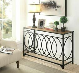 Console Table Rustic Furniture Vintage Accent Brown Entryway