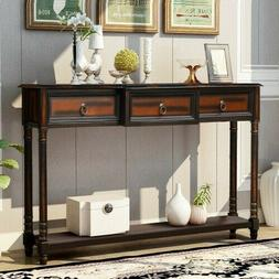 Console Table Sofa Table with Drawers Luxurious and Exquisit