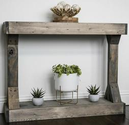Console Table Solid Wood Centerpiece Stage Entryway Picture