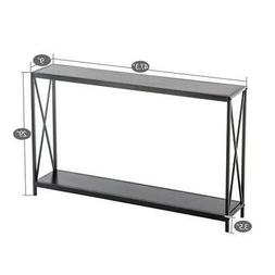 Console Table Vintage Accent Stand Side Entryway Display Sto