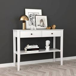 Console Table White Furniture Accent Wood Entryway Hallway S