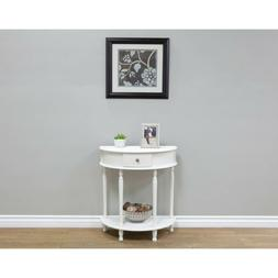 Console Table With Drawer For Hallway Entryway Half Moon Sem