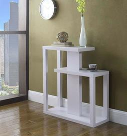 Console Table With Shelves Furniture Modern Accent White Woo