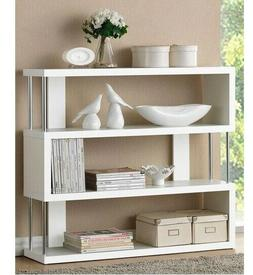 White Console Table Wood Chrome Modern Accent Tables Storage