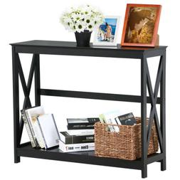 console table wood drawers entryway