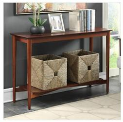 console table wood entry hallway living rm
