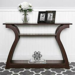 Console Table Wood Entryway Sofa Accent Hallway Modern Conte