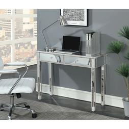 Contemporary 2-Drawer Mirrored Console Table Study Laptop Co