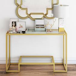 CONTEMPORARY GEOMETRIC LUXE CONSOLE TABLE GLAM HAND CRAFTED