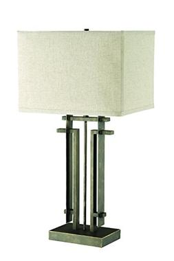Coaster Home Furnishings Rectangular Table Lamp Black and Be
