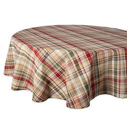 "Cabin Plaid Tablecloth, 100% Cotton with 1/2"" Hem"