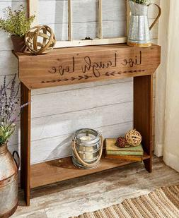 country sentiment console table in black home