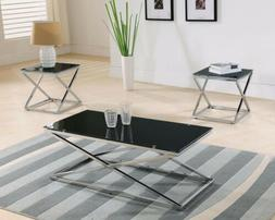 Kings Brand Furniture Coylin Glass Cocktail Coffee Table & 2