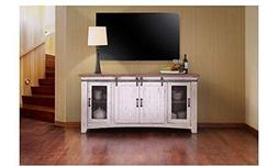 """Crafters and Weavers Granville White 70"""" TV Stand / Sideboar"""