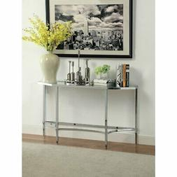 crsylyn modern glass top console table