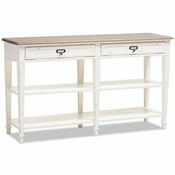 Baxton Studio Dauphine Console Table in Weathered Oak White
