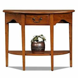 Bowery Hill Console Table in Medium Oak Finish