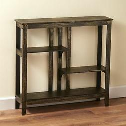 Distressed Finish Console Table - Narrow Hallway Table with